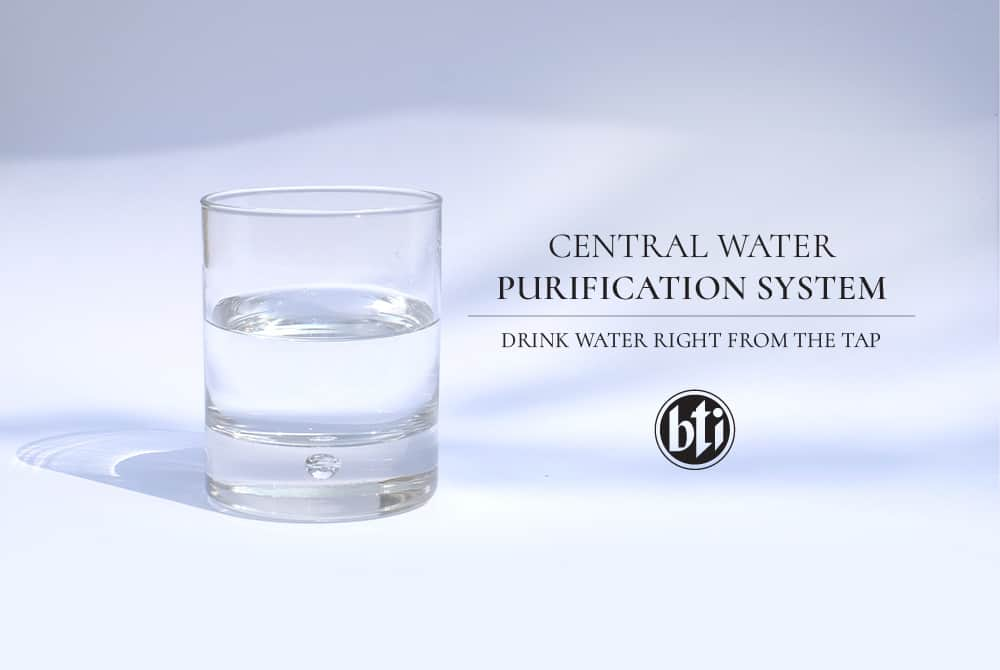Central Water Purification System: Drink Water Right from the Tap